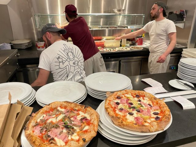 Two days in and we are already running smoothly like olive oil.  You can book a table on 0208 840 4998 and enjoy the pizza that got even better!