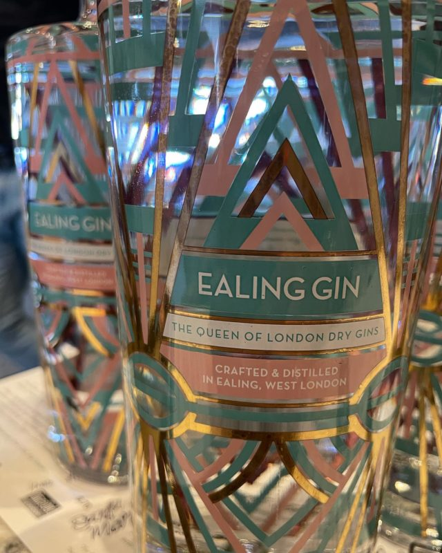 We have known Simon and Amanda since our first days in our Ealing branch, beautiful family with two fantastic kids (now adults!)  We saw them during lockdown 1 and they told us about their project: building a distillery in their back garden to make Gin, @ealingdistillery   Finally the project is live, we are selling their super good gin, with floral accents and spicy notes.  Gorgeous bottle and package as well, inspired by the Ealing Art Deco architecture (Hoover building among others) and a nod to the underground.  You can taste it with our homemade lemonade or can buy the whole bottle!