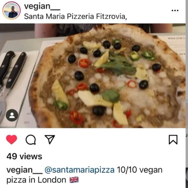 While Islington site is nearly ready, we are working to build @verginemariapizzavegan , our 100% plant based pizza concept. Opening date will be announced soon.  In the meantime you can try our vegan pizza that will be served in Vergine María.  Thanks @vegian__ for the review.